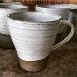 Kopp Kjerstina kaffe grå lera